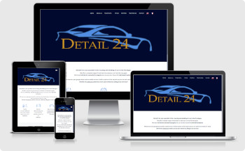 Website design Detail 24 car valeting