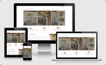 website design for Atelier de Merlande